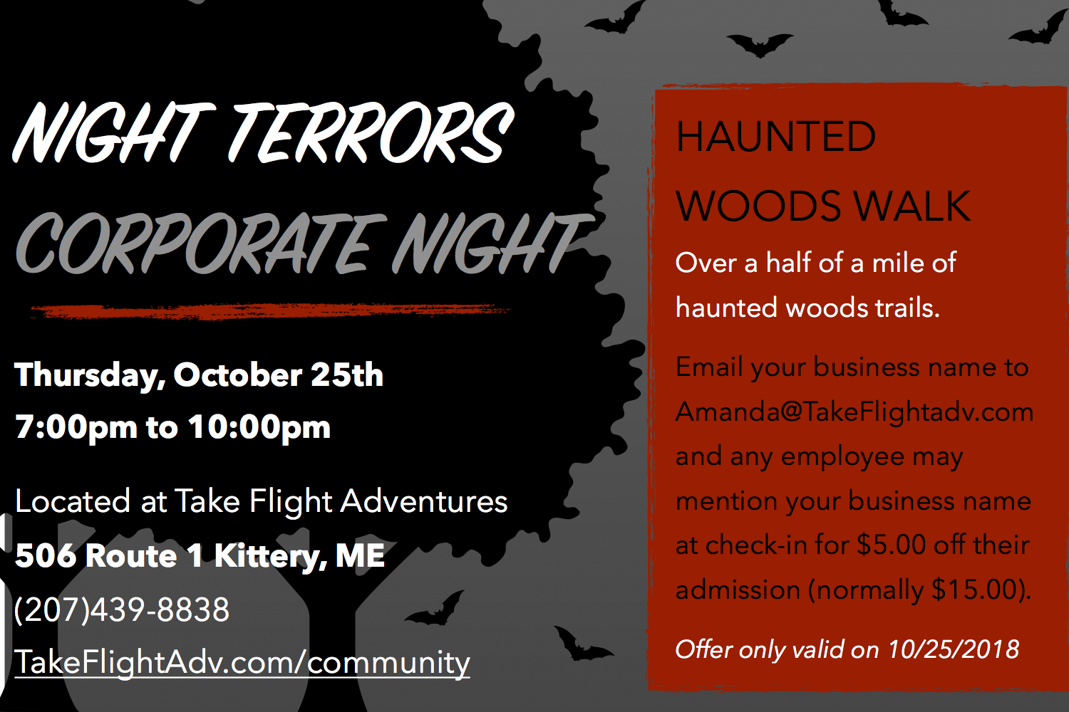 Night Terrors Corporate Night